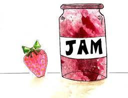 Large strawberry jam