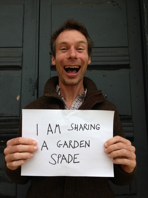 Large i'm sharing a garden spade