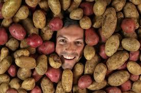 Large baked potato pot luck